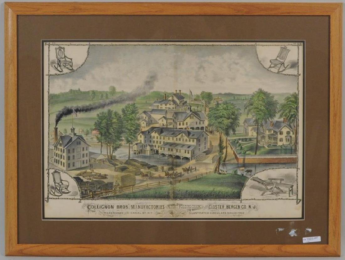 Framed Hand Colored Engraving