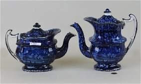 Historical Staffordshire Teapot & Coffee Pot