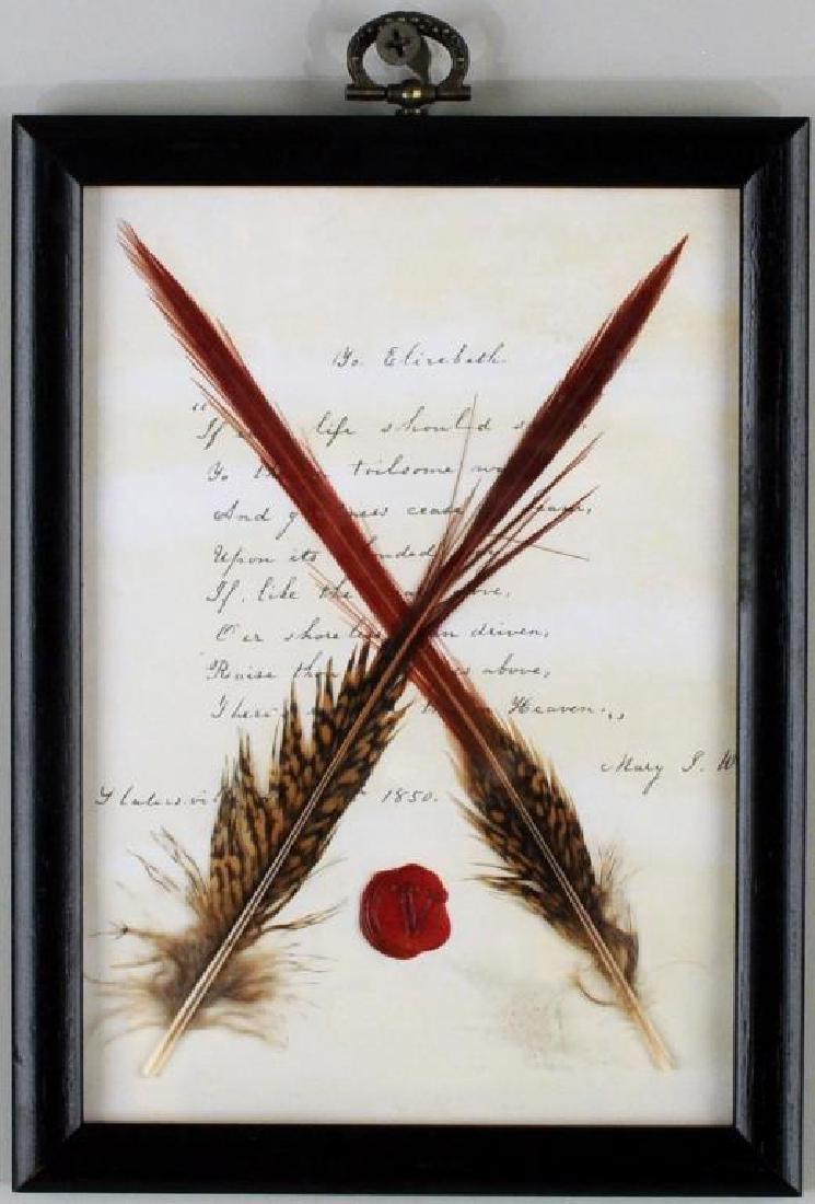 Framed Letter Poem To Elizabeth Barrett Browning