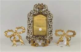Group Of Three Brass Items
