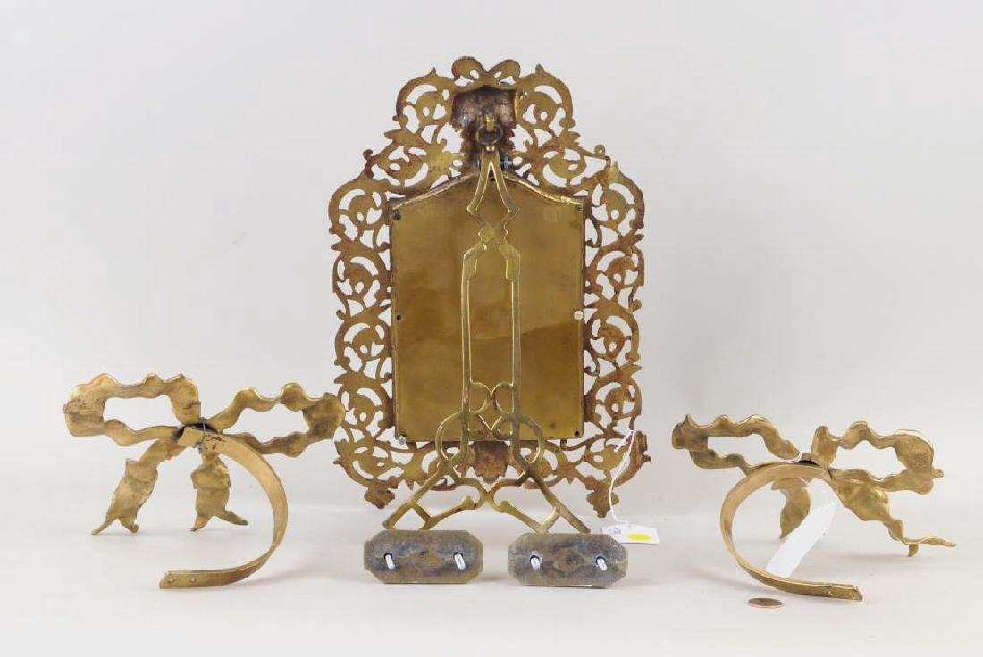 Group Of Three Brass Items - 2