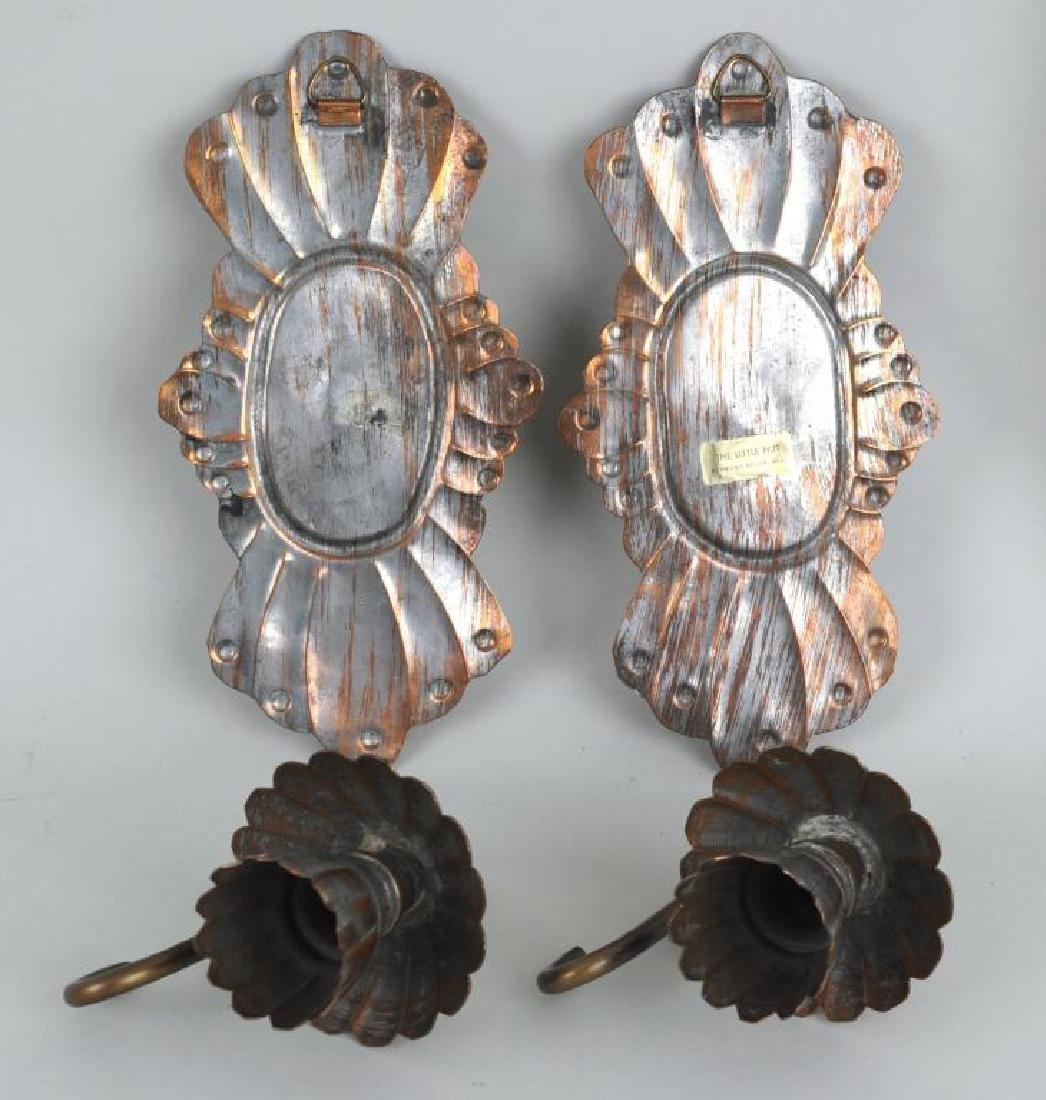 Pair Of Silvered Metal Sconces - 3