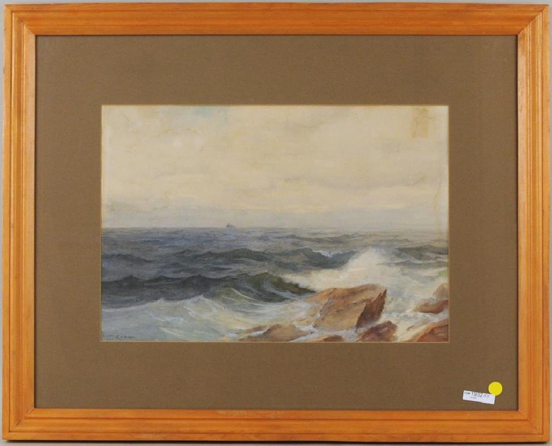 "Frank Knox Morton Rehn ""Seascape"" Watercolor"