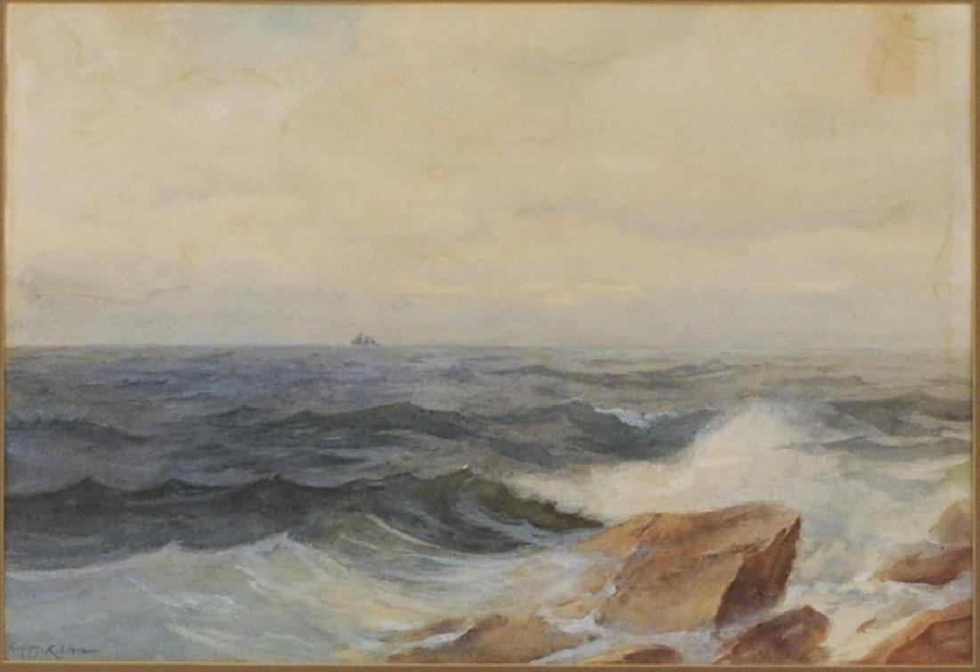 "Frank Knox Morton Rehn ""Seascape"" Watercolor - 3"