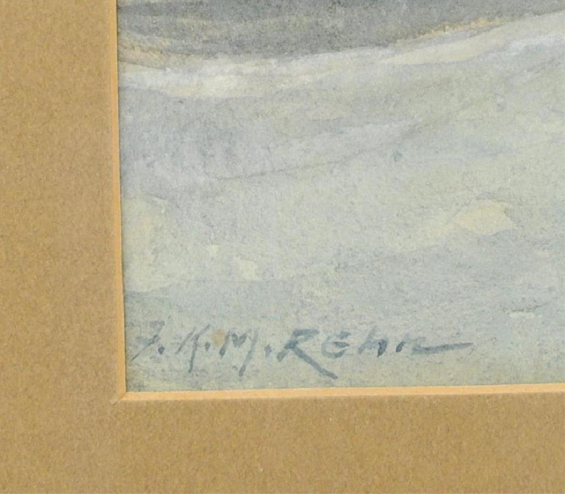 "Frank Knox Morton Rehn ""Seascape"" Watercolor - 4"