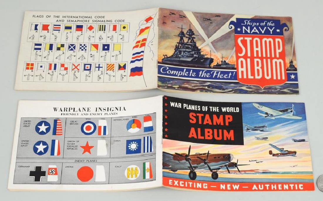 Two World War II Patriotic Stamp Albums