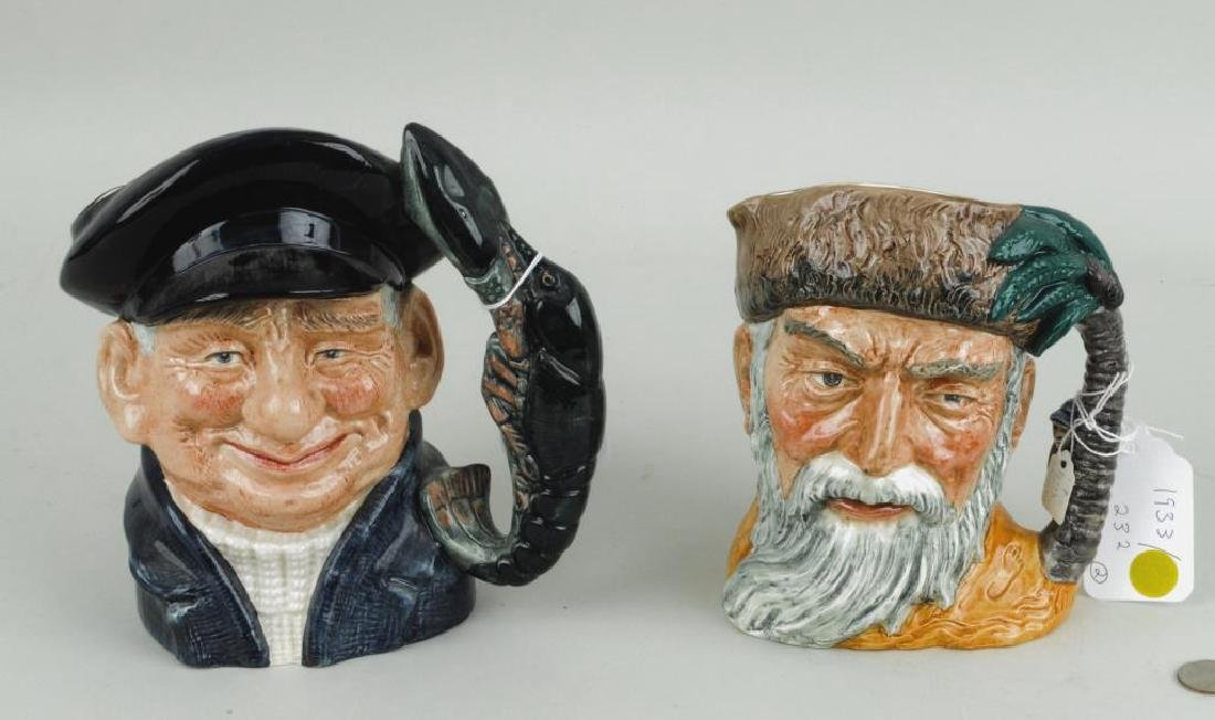 Two Large Royal Doulton Character Jugs