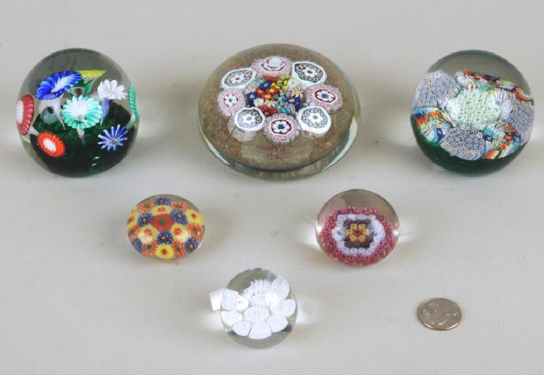 Group Six Vintage Paperweights