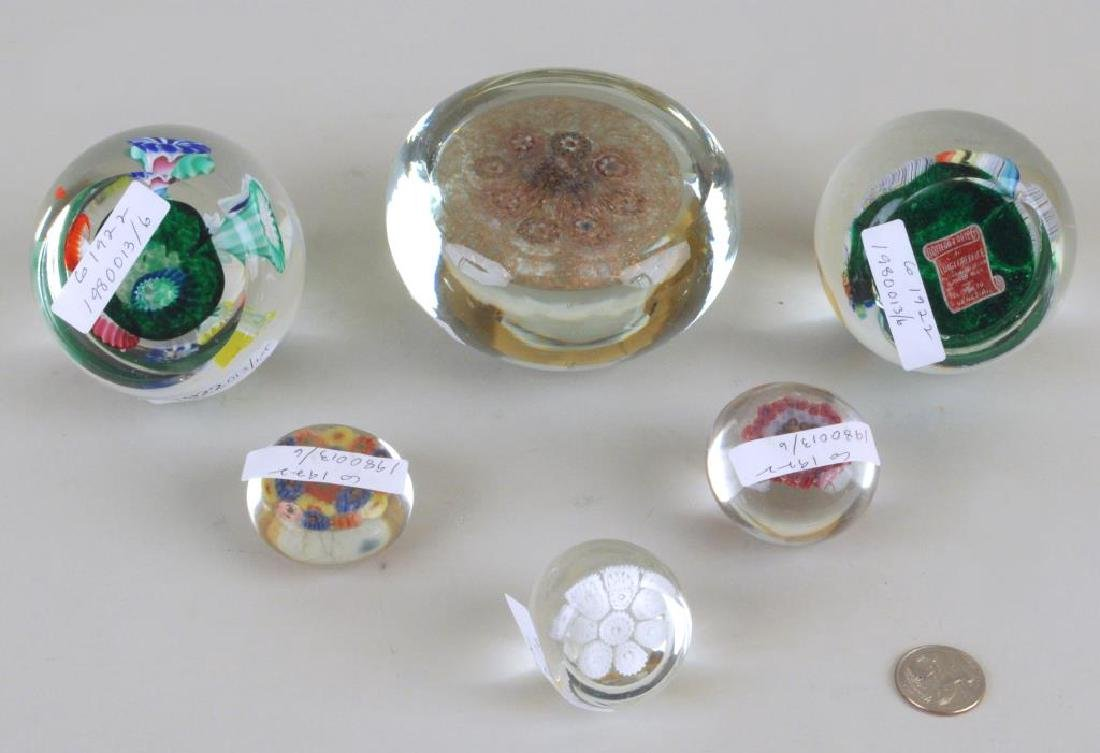 Group Six Vintage Paperweights - 2