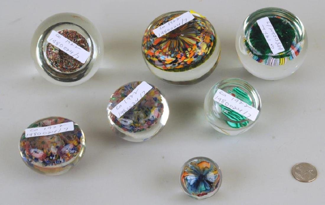 Group Of Six Vintage Millefiore Paperweights - 2
