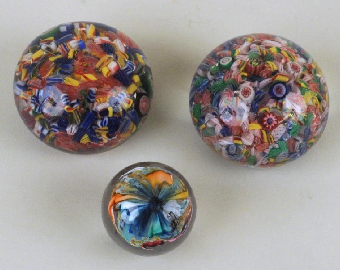 Group Of Six Vintage Millefiore Paperweights - 3