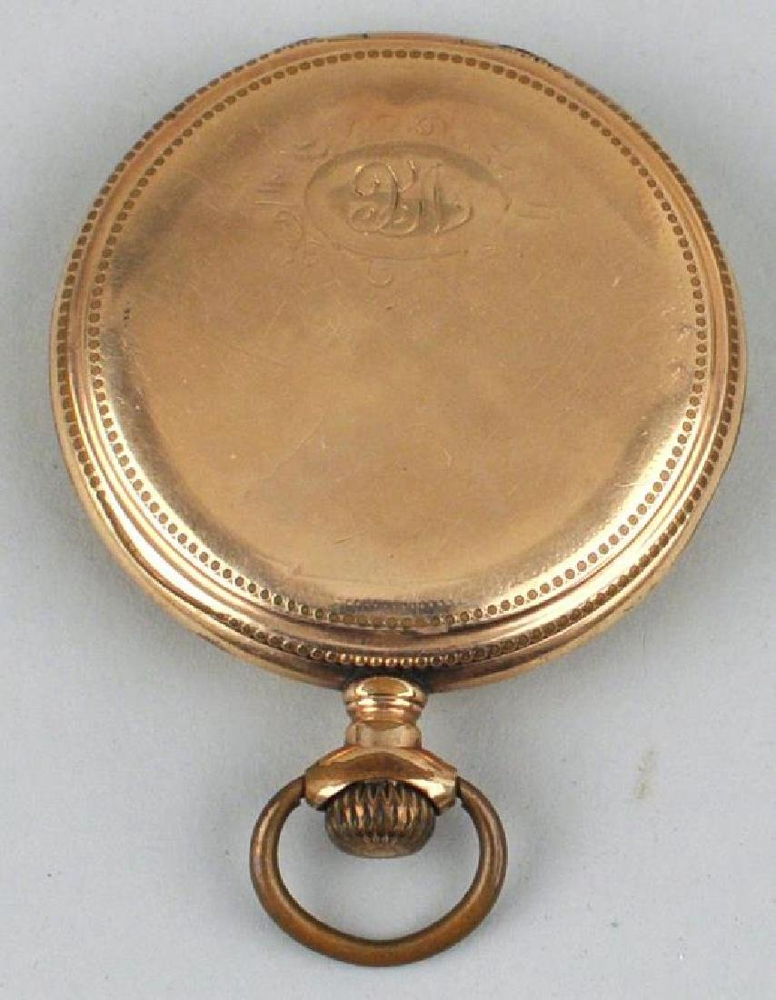 Illinois Gold Filled Pocket Watch On Stand - 4