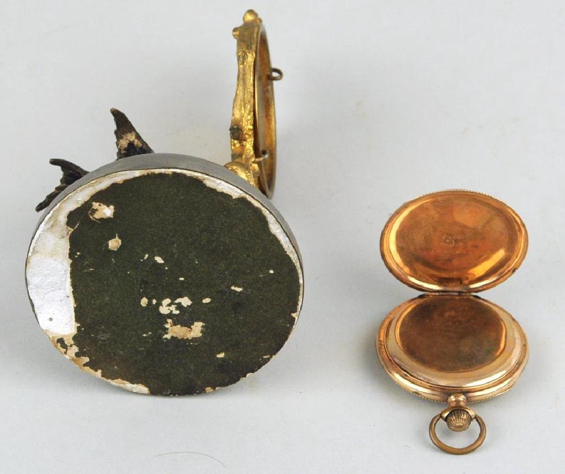 Illinois Gold Filled Pocket Watch On Stand - 5