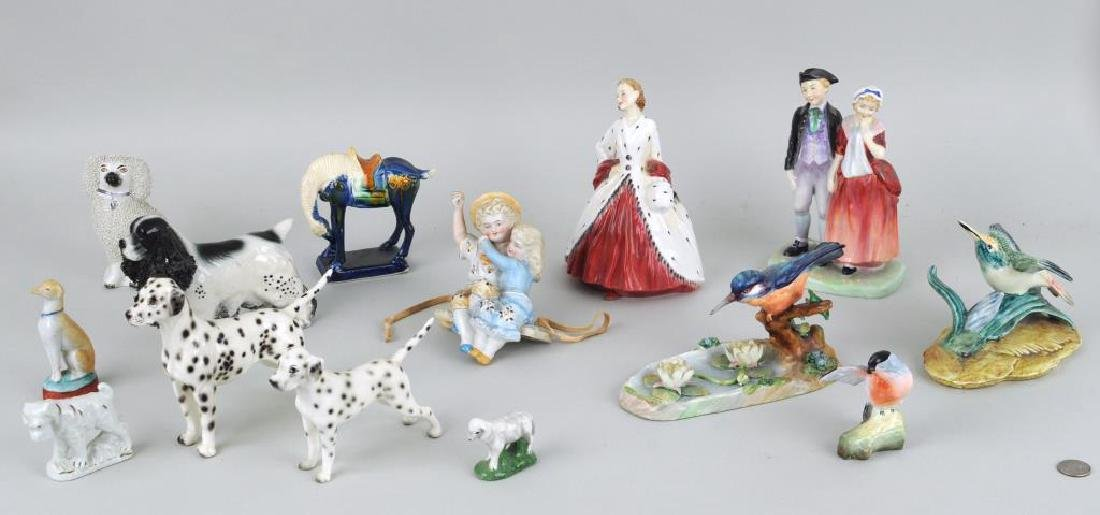 Group Staffordshire & Royal Doulton Figures