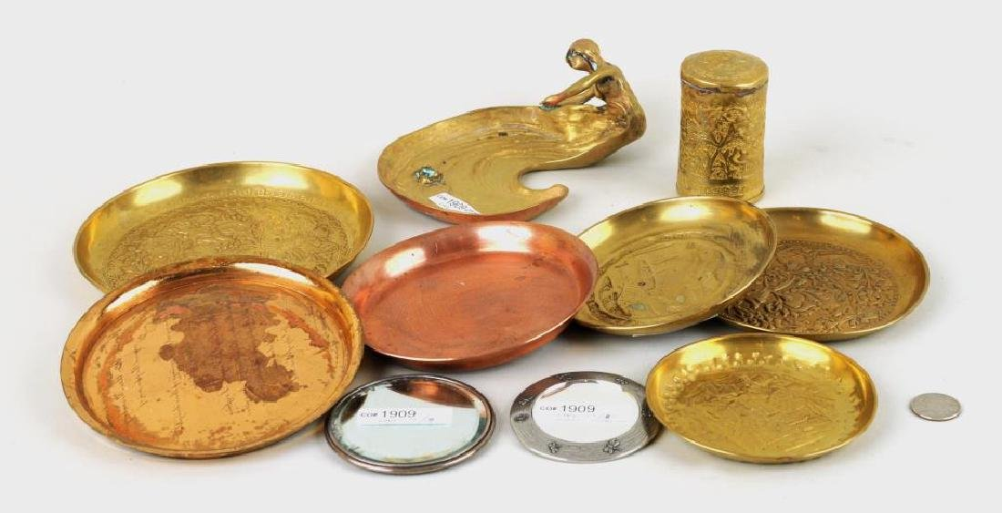Group Nine Decorative Metal Items