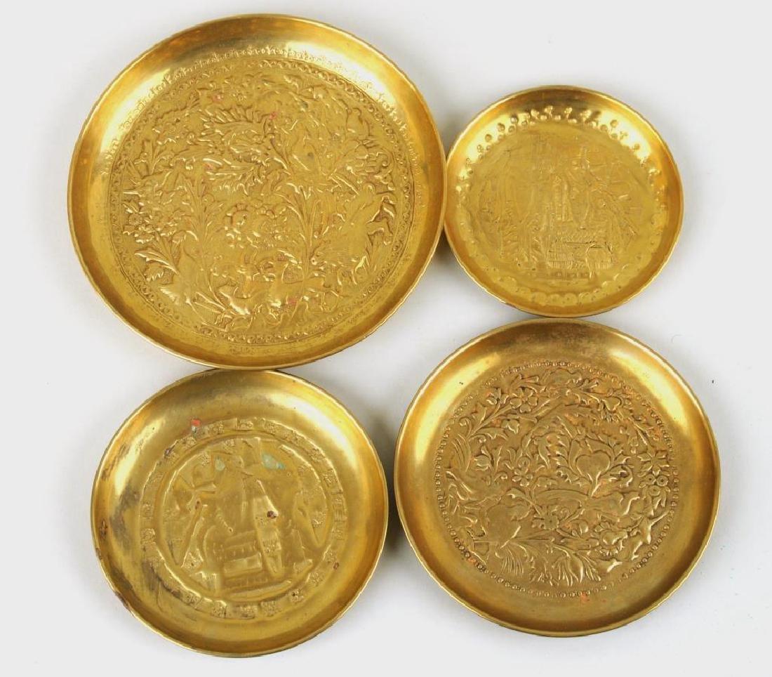 Group Nine Decorative Metal Items - 2