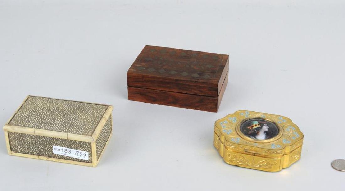 Three Trinket Boxes
