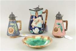 Group Four Majolica Pottery Items