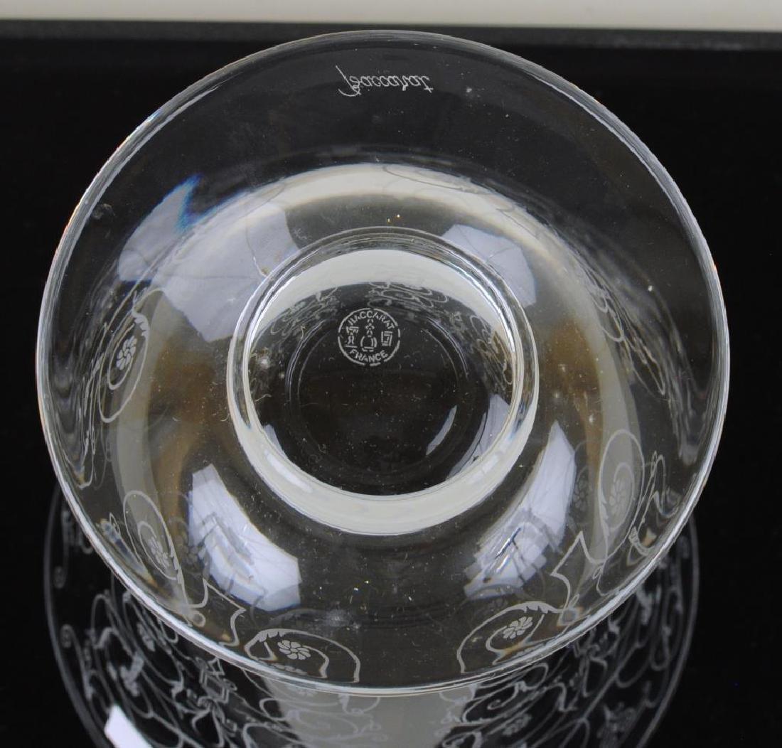Baccarat Crystal Etched Floral Vase - 3