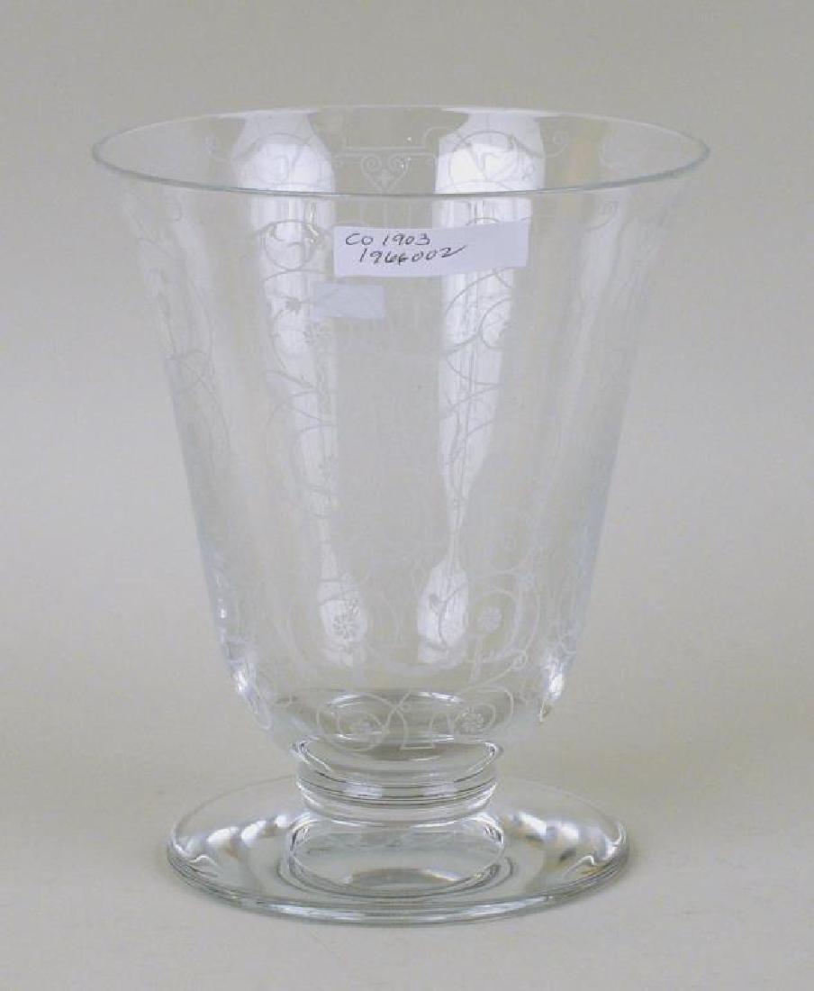 Baccarat Crystal Etched Floral Vase - 4