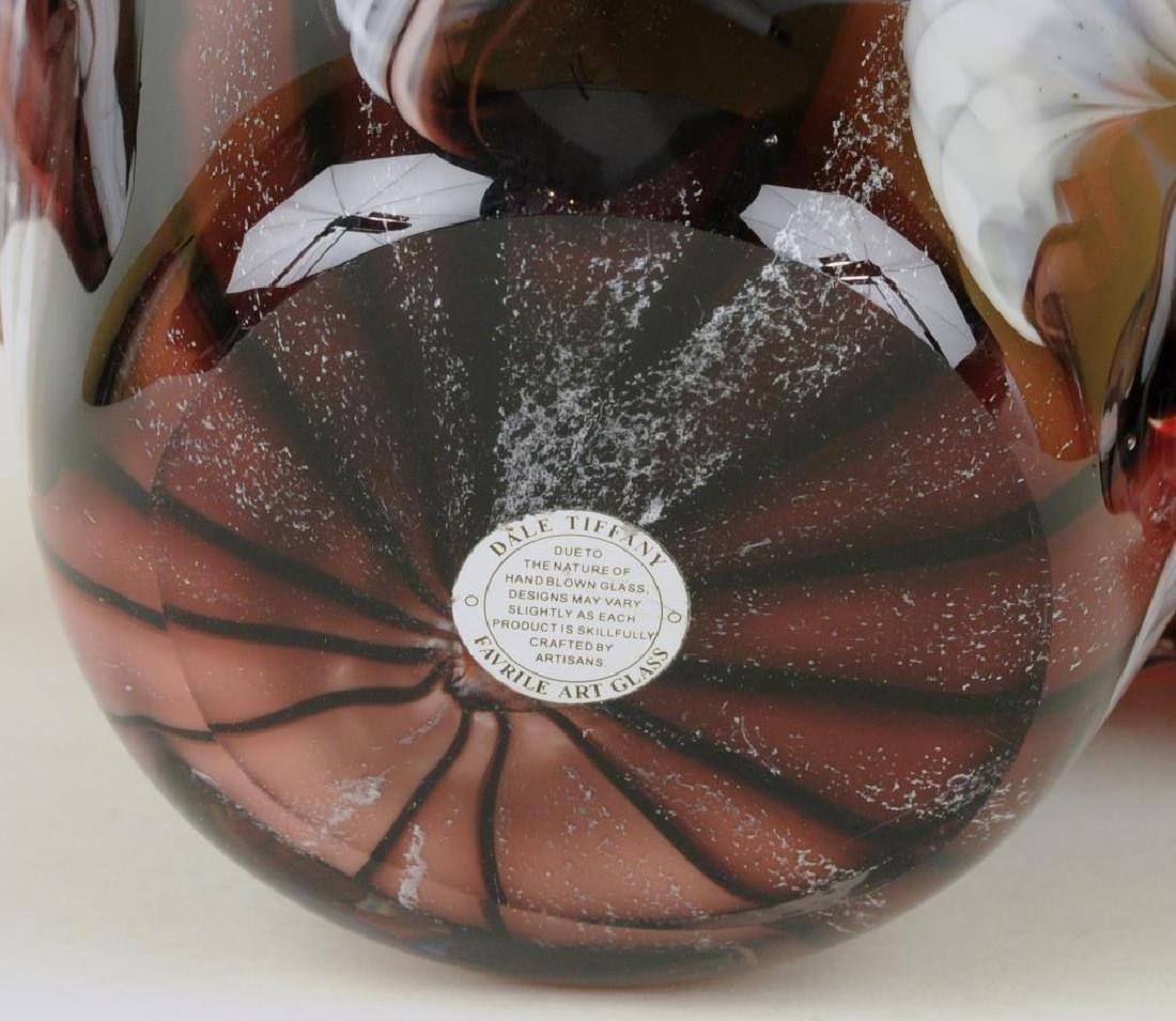 Dale & Tiffany Favrile Art Glass Vase - 4
