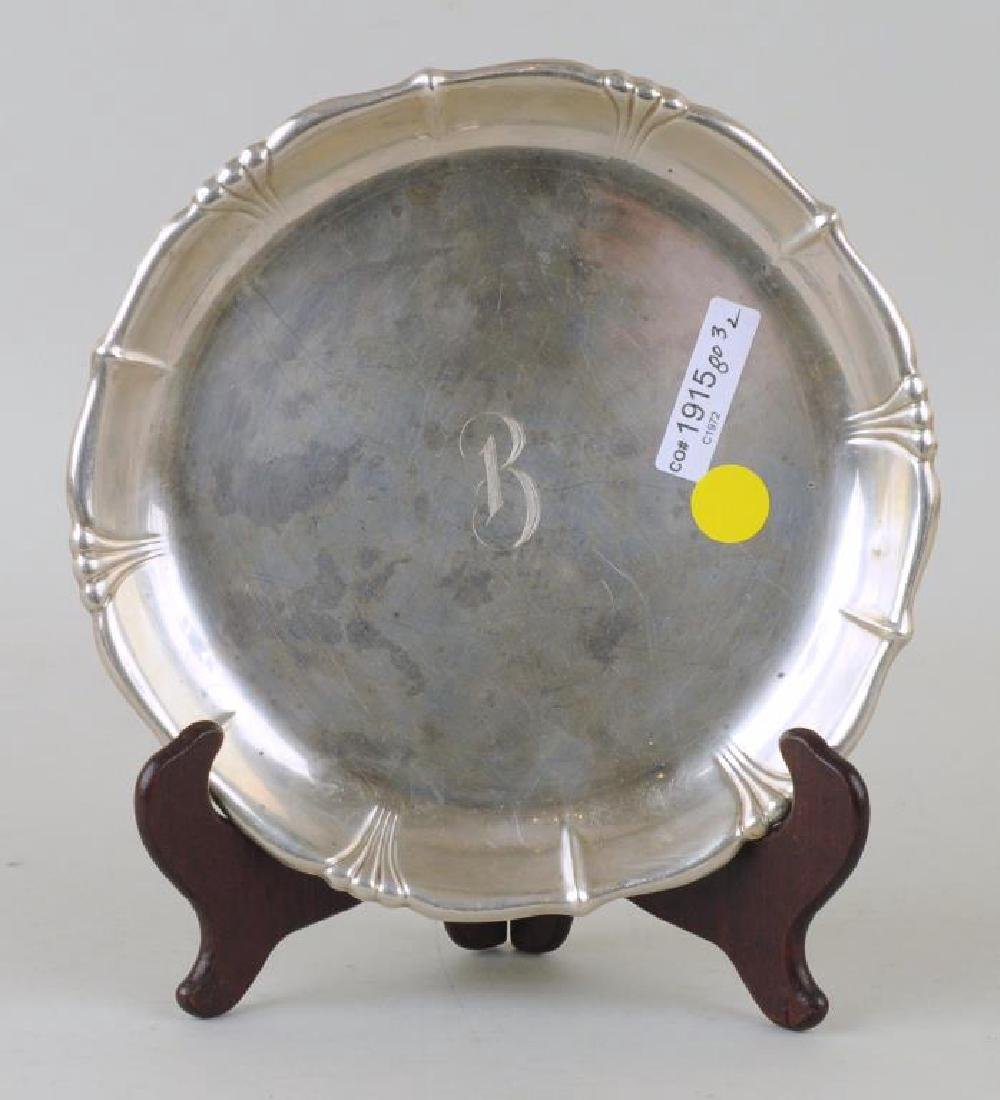 Two Sterling Round Trays - 3