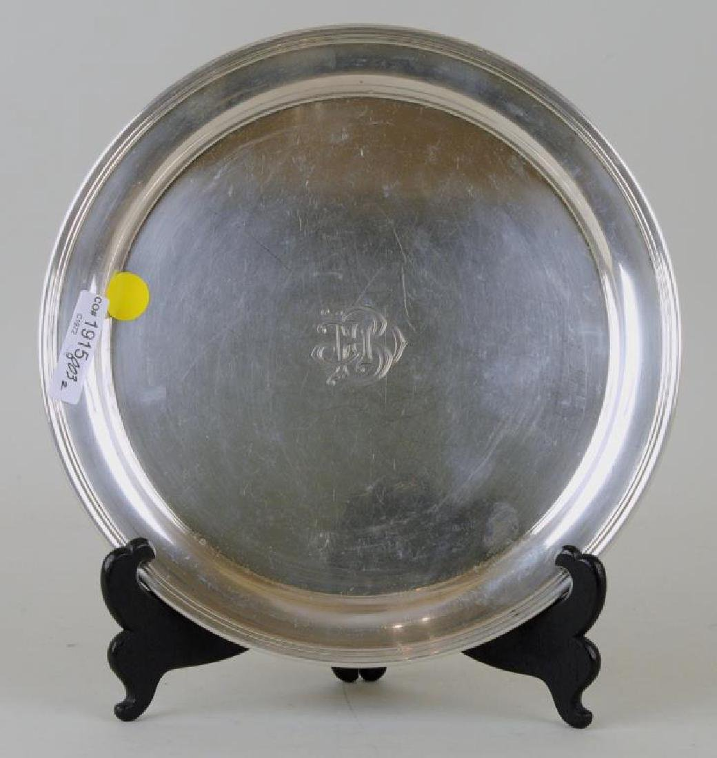 Two Sterling Round Trays - 5