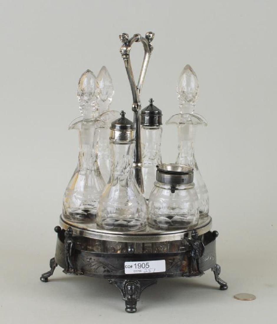 Victorian Reed & Barton Silver Plate Cruet Set