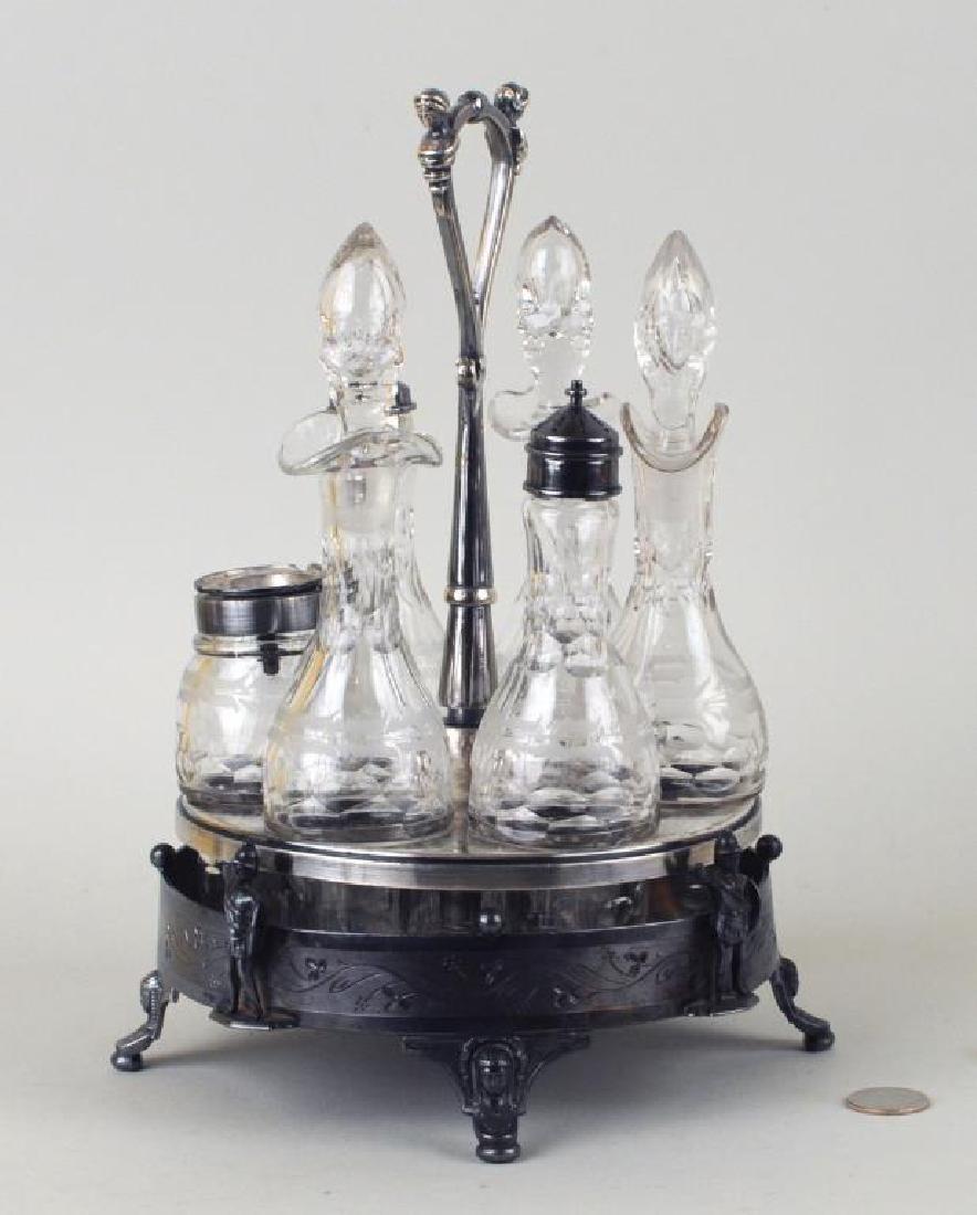Victorian Reed & Barton Silver Plate Cruet Set - 2
