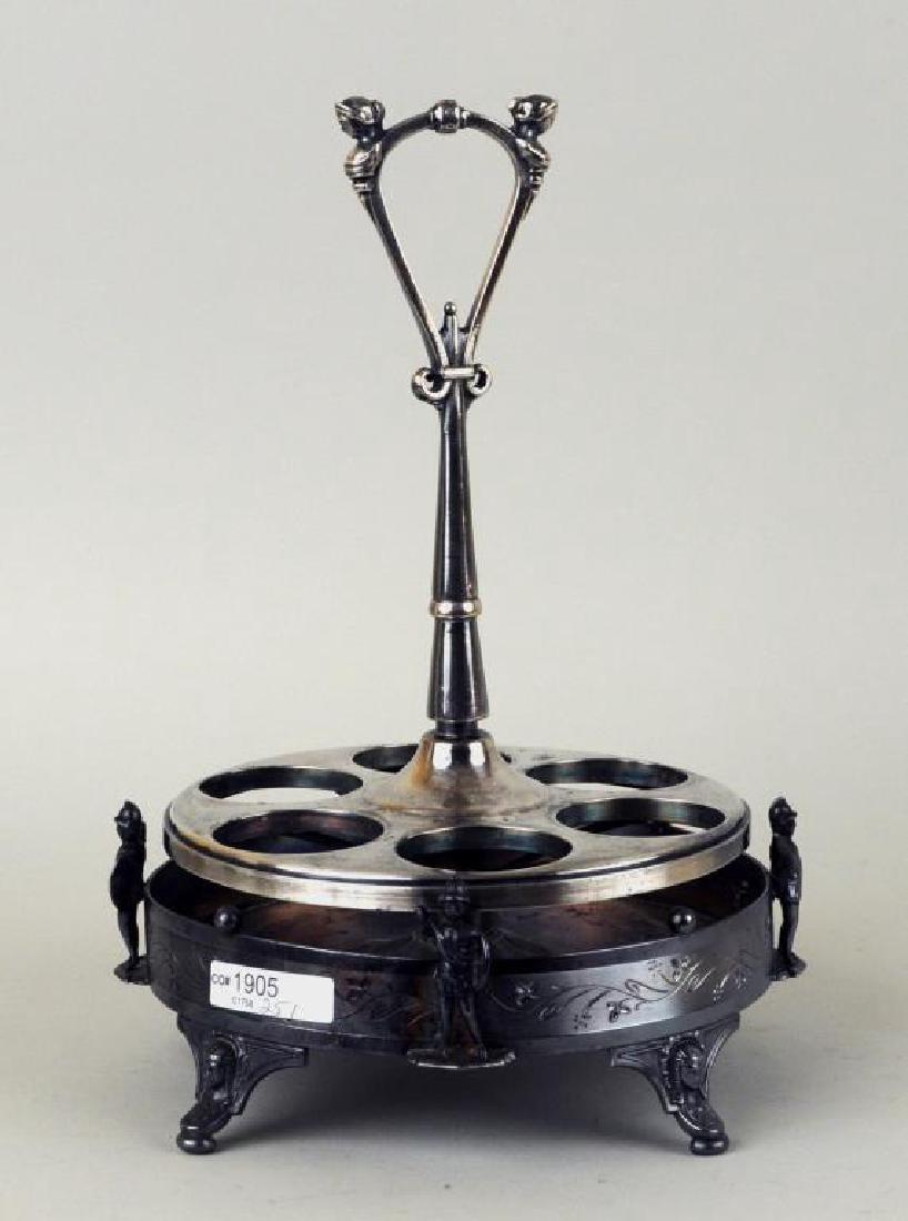 Victorian Reed & Barton Silver Plate Cruet Set - 3
