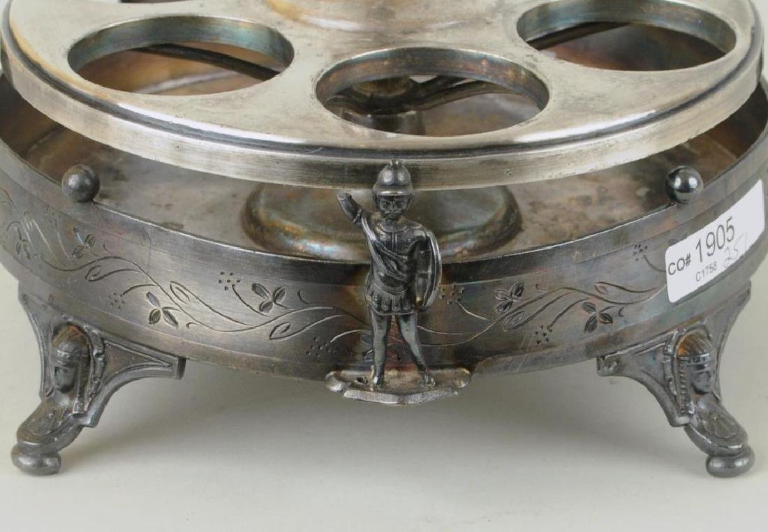 Victorian Reed & Barton Silver Plate Cruet Set - 5