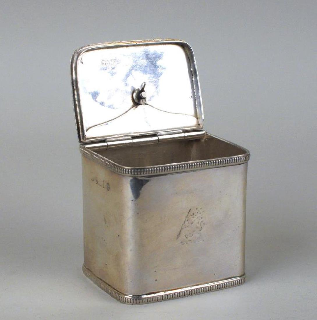 Pair English Sterling Silver Tea Caddies - 3