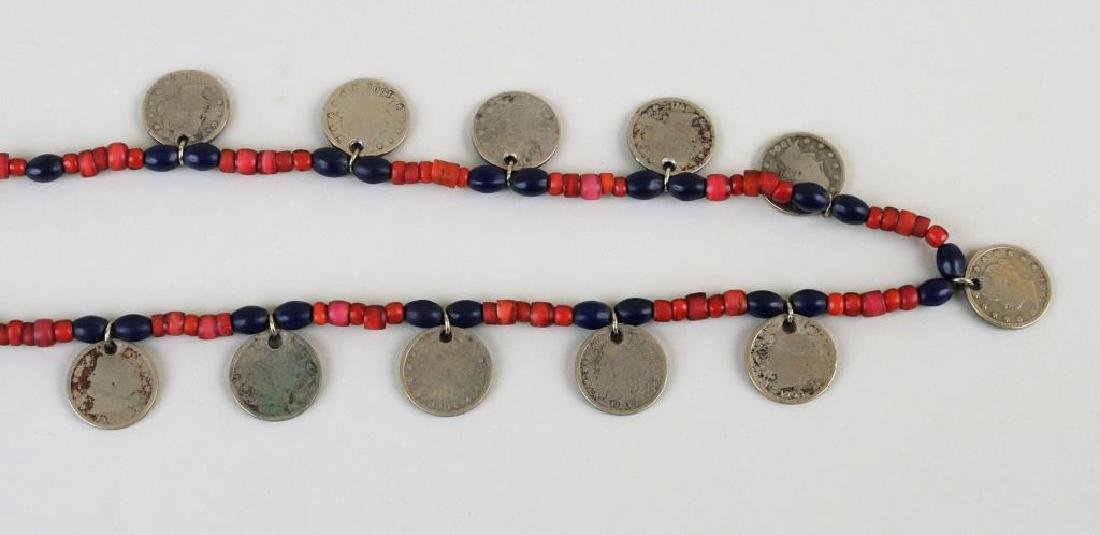 Three Trade Bead, Silver Bead & Coin Necklaces - 3