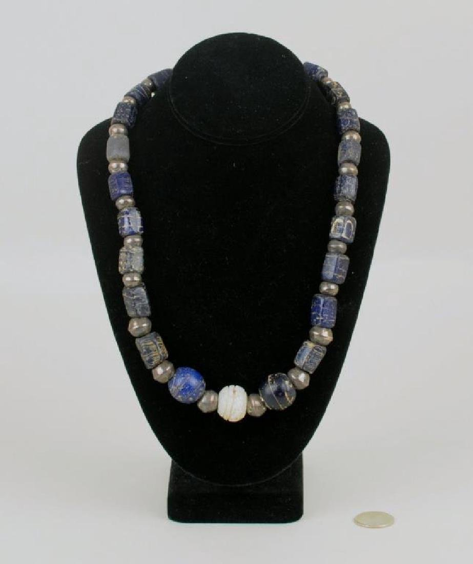 Silver & Wound Glass Bead Necklace
