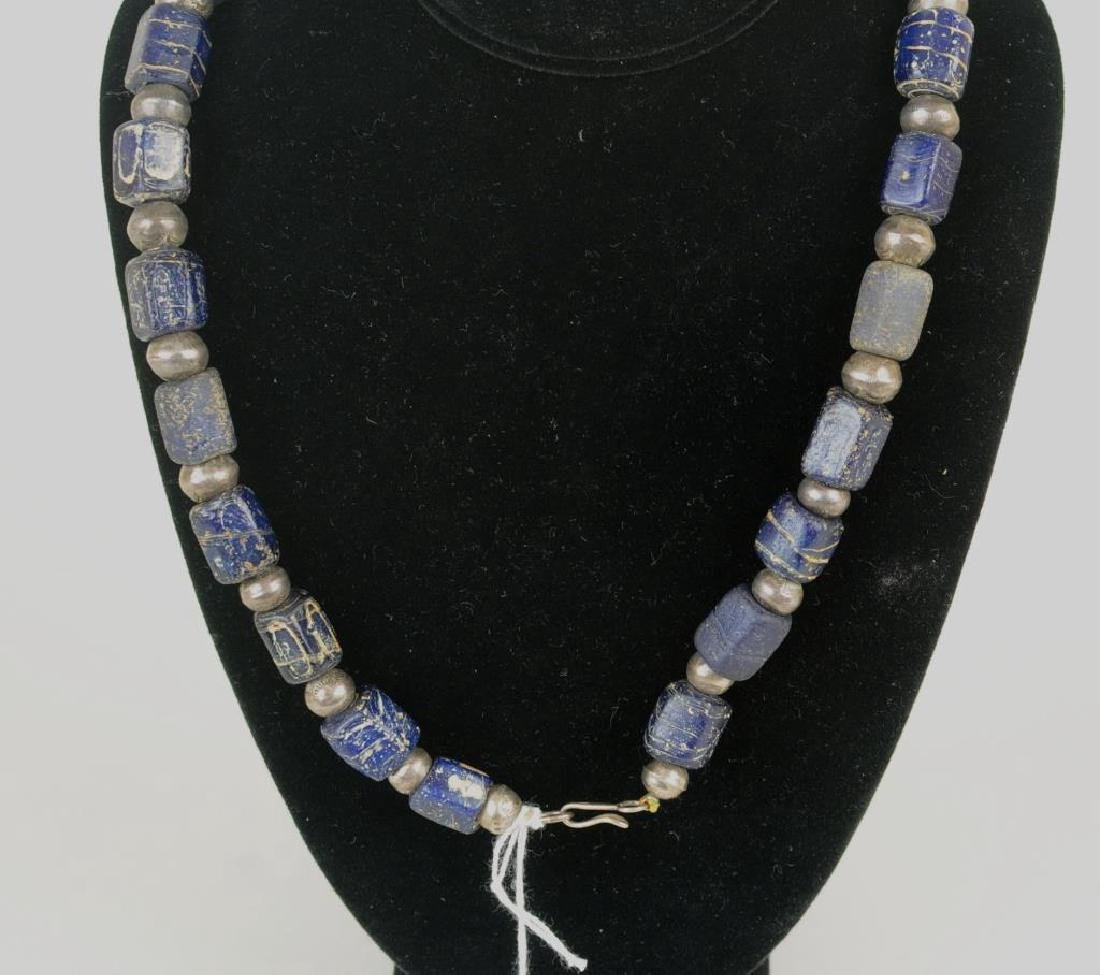Silver & Wound Glass Bead Necklace - 2
