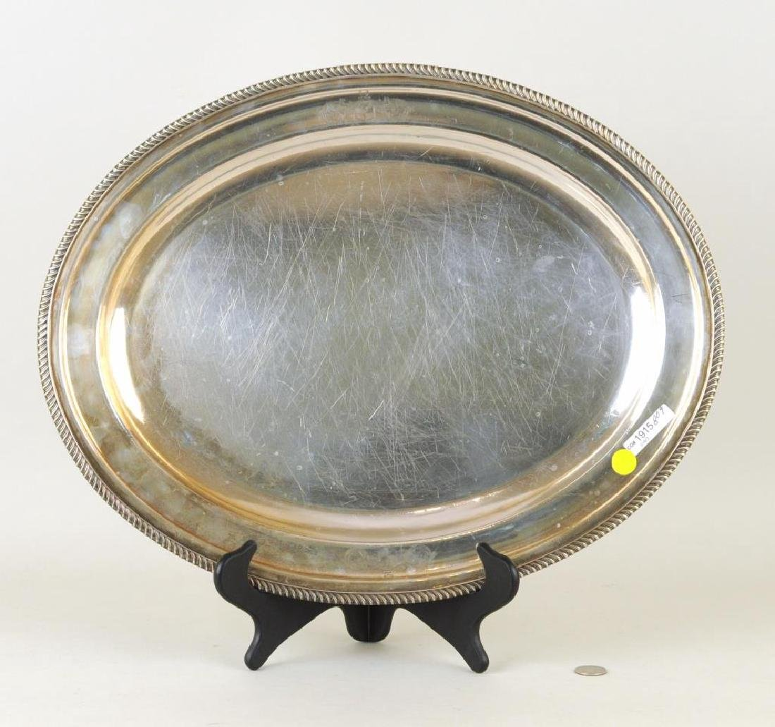 Sterling Oval Tray, Charles Pierce