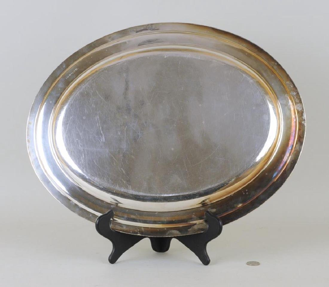 Sterling Oval Tray, Charles Pierce - 2