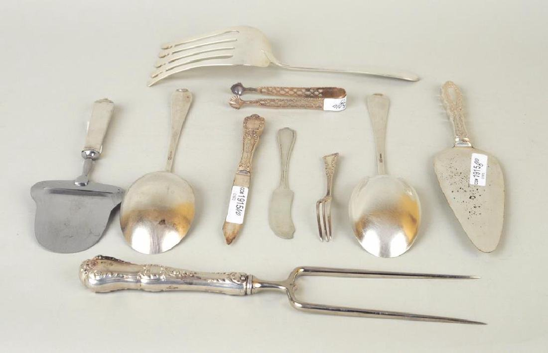 Group Assorted Sterling Flatware, Serving Items - 3