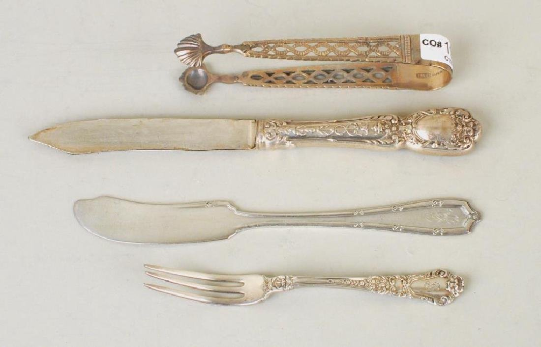 Group Assorted Sterling Flatware, Serving Items - 9
