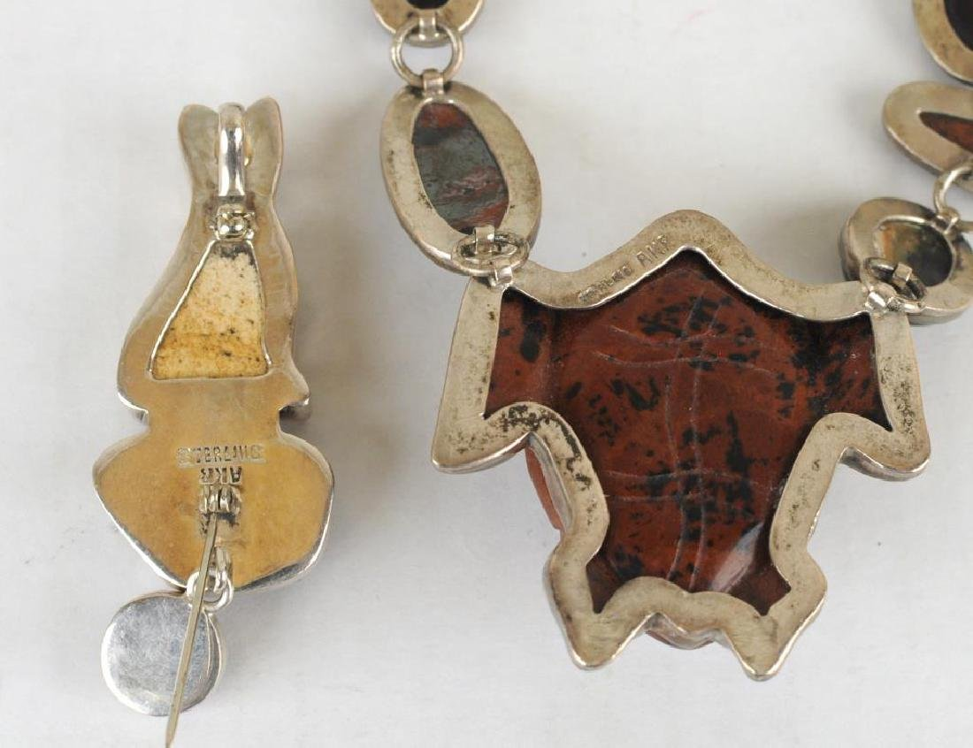 Amy Kahn Russell Turtle Necklace & Cat Pin - 2