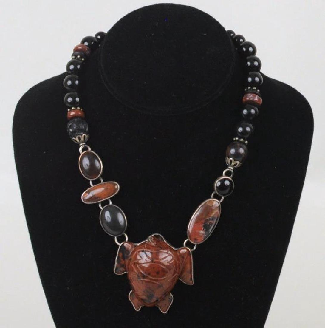 Amy Kahn Russell Turtle Necklace & Cat Pin - 3