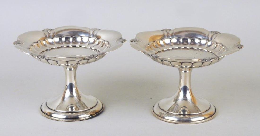 Pair Gorham Sterling Small Tazzas - 3