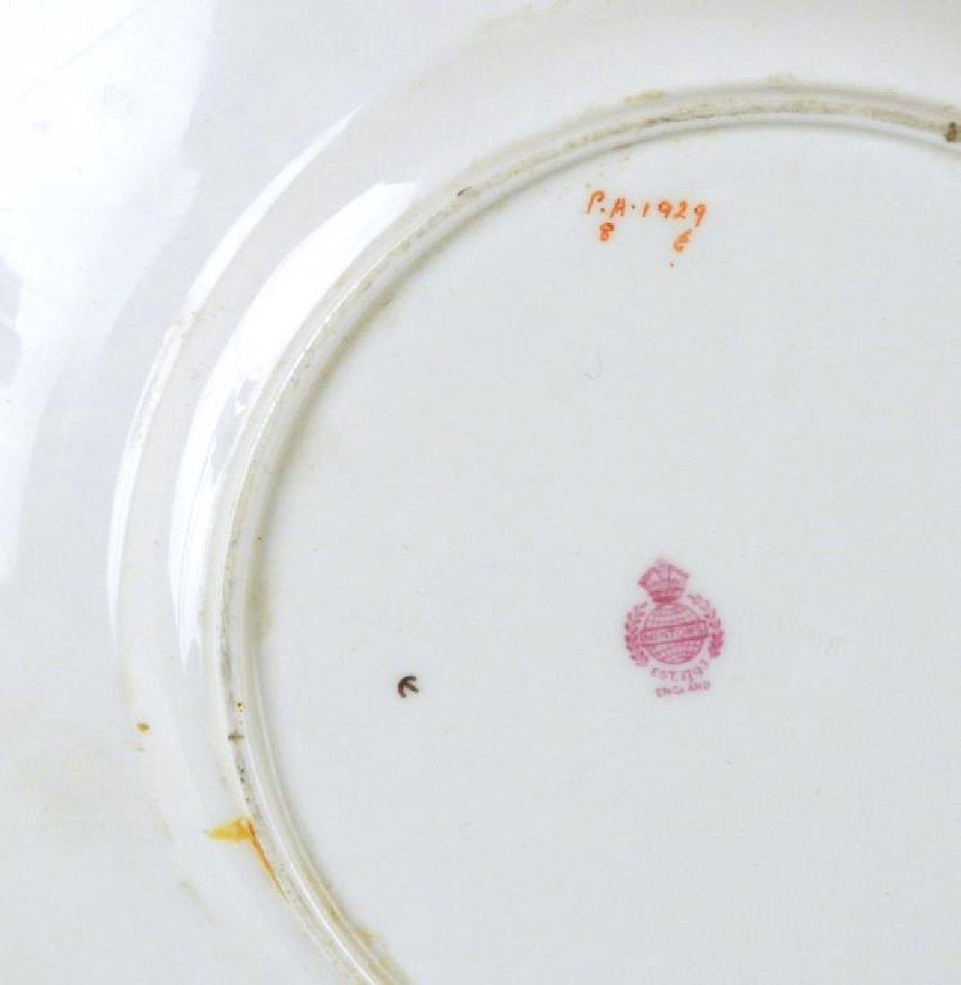 Sterling Mounted Minton Dinner Plate - 3