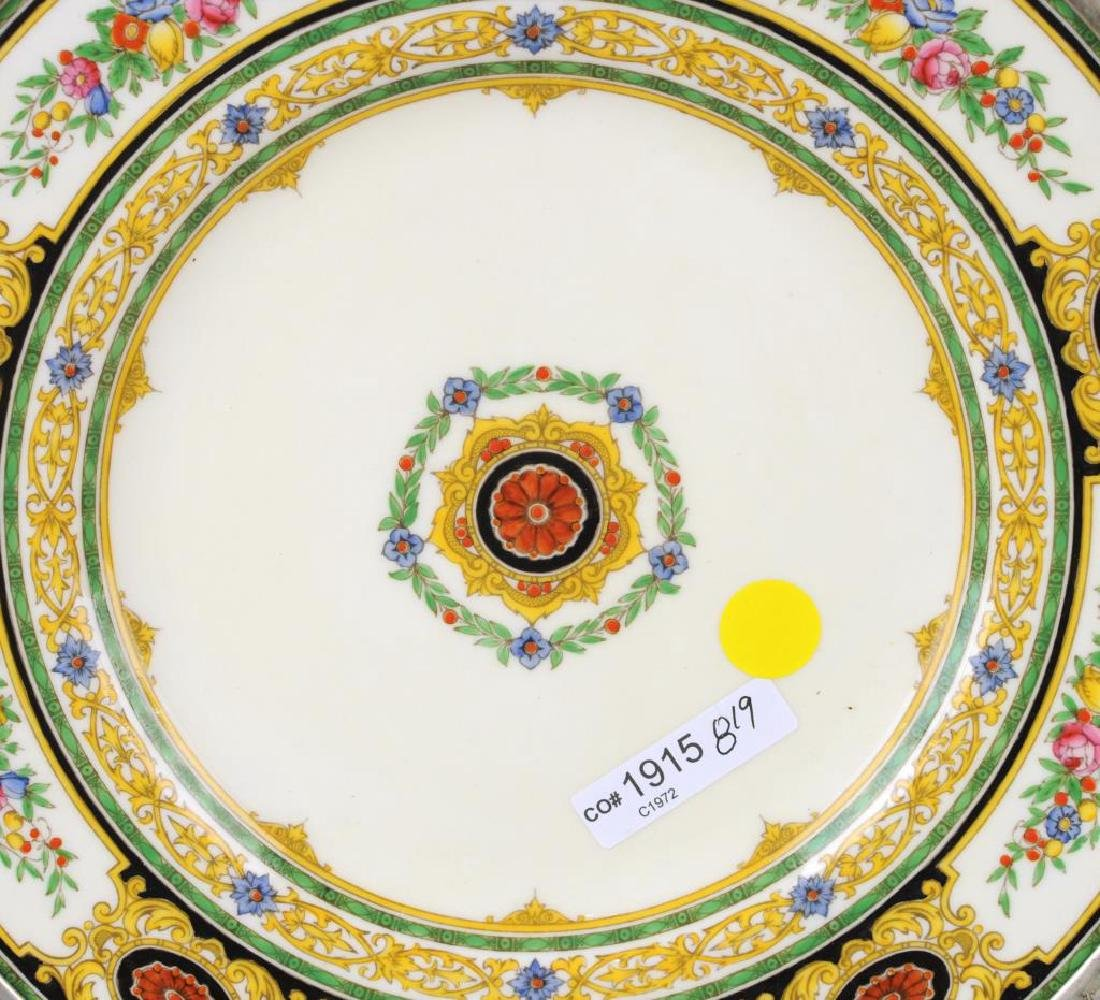 Sterling Mounted Minton Dinner Plate - 5