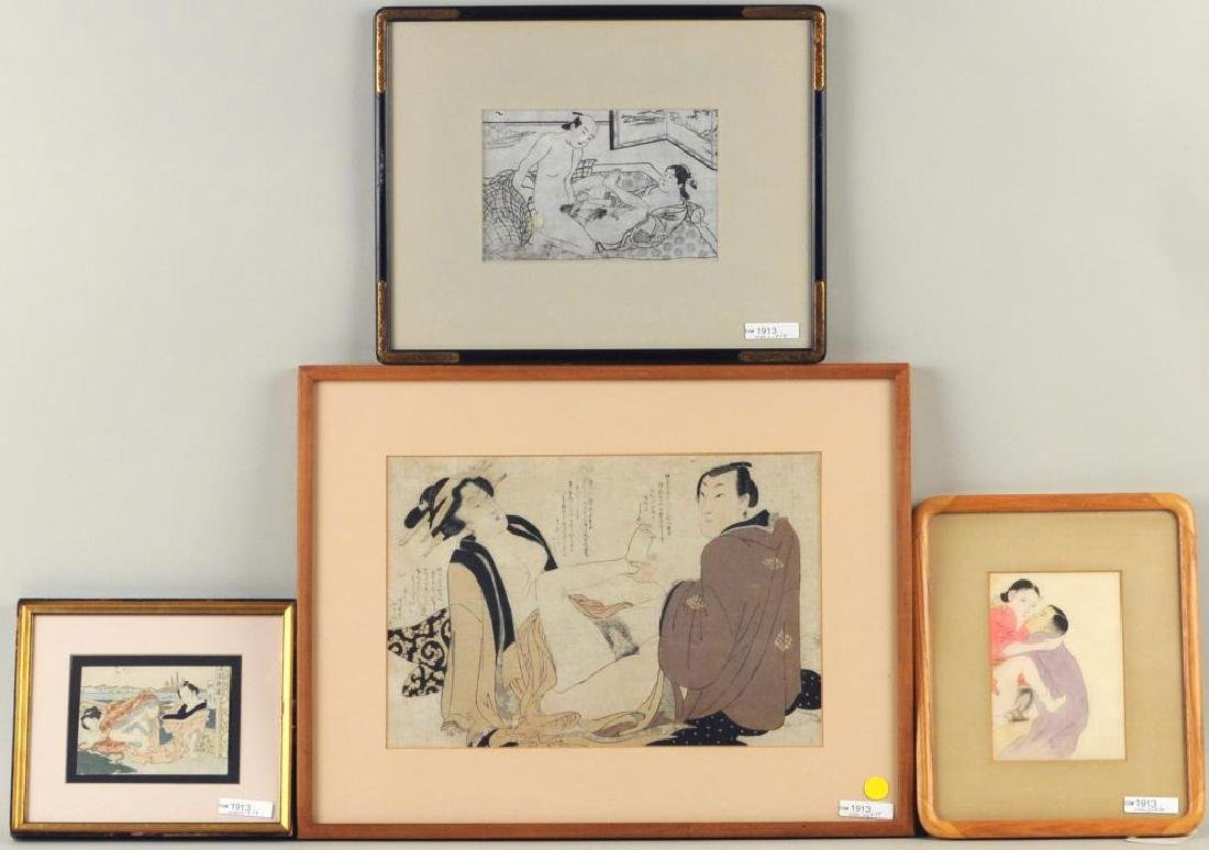 Four Japanese Shunga Prints