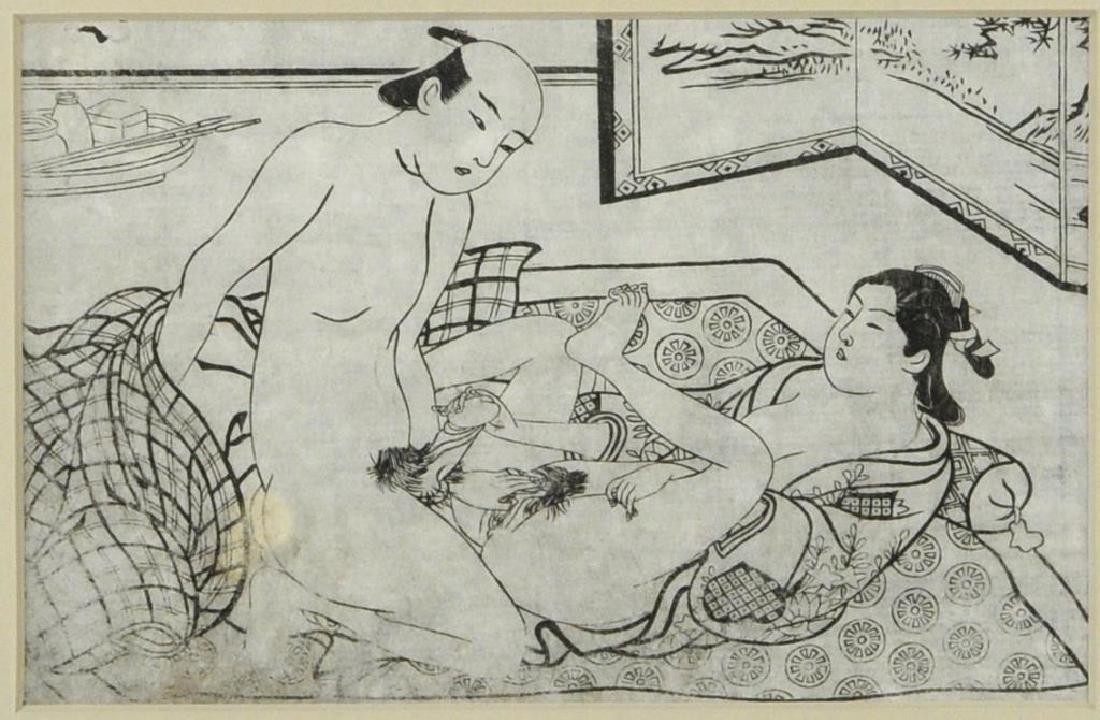 Four Japanese Shunga Prints - 5