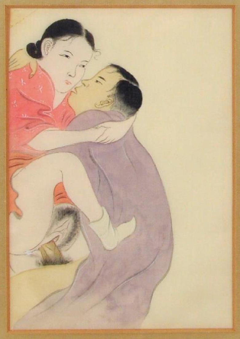 Four Japanese Shunga Prints - 6