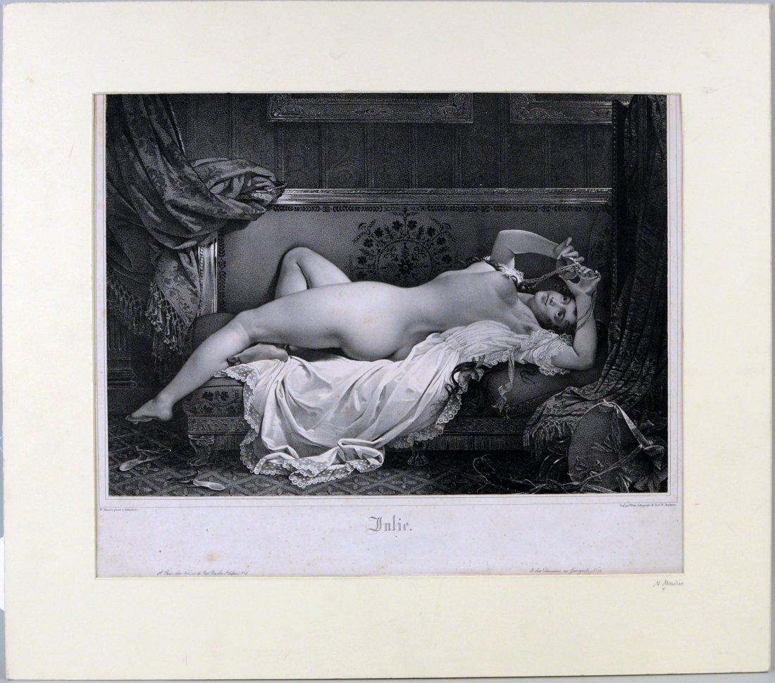 """Julie"", Lithograph After Nicholas Eustache Mavrin"