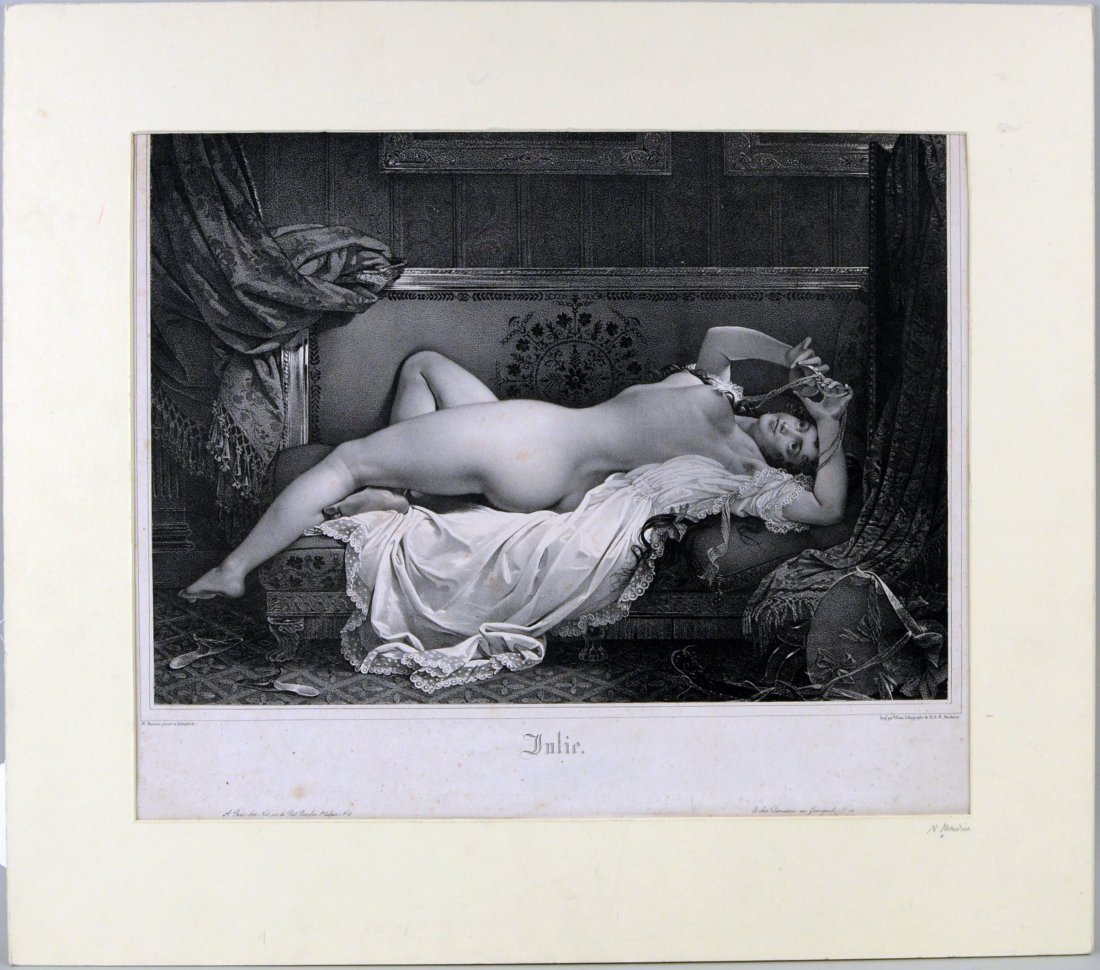"""Julie"", Lithograph After Nicholas Eustache Mavrin"