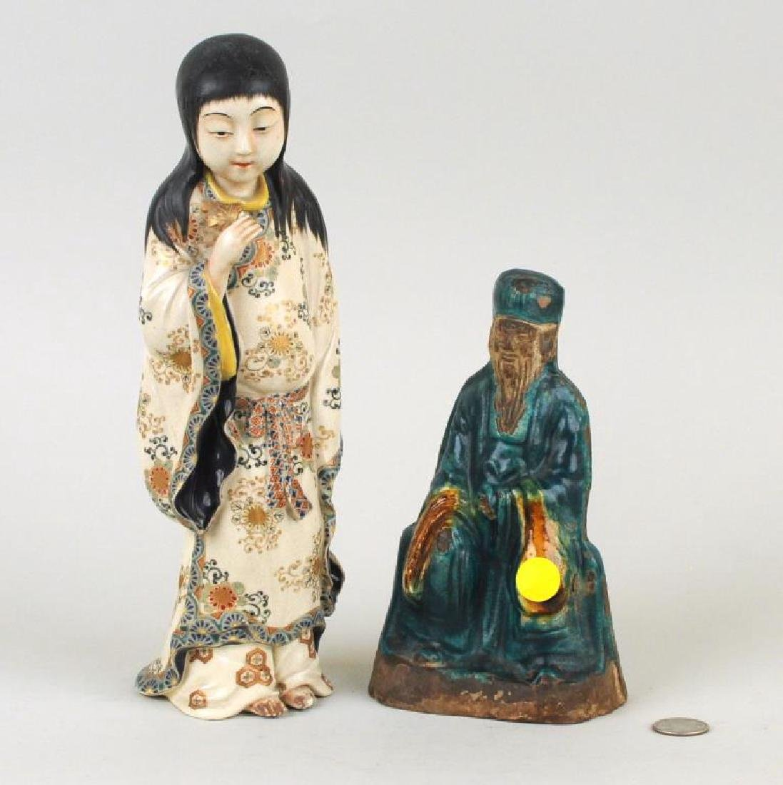 Two Asian Pottery Figures